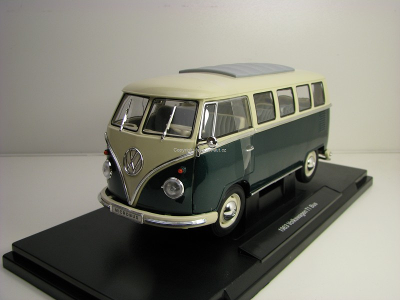Volkswagen T1 Bus 1963 Green 1:18 Welly